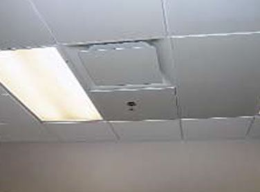 Ceiling-mounted radiant panels